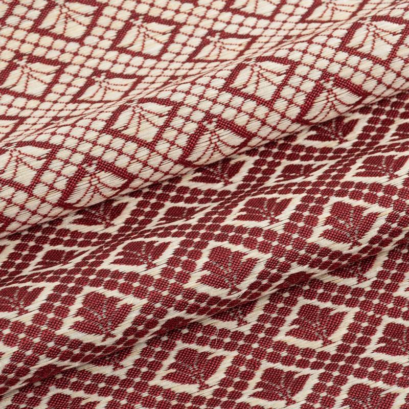 Tissu-crin-sisal-rouge