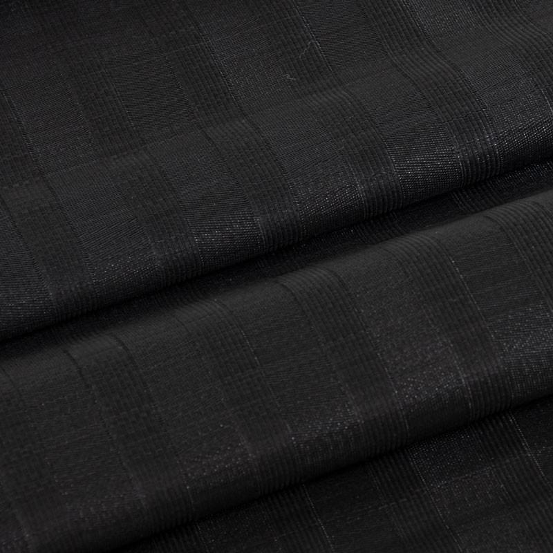 Tissu-crin-sisal-ligné-noir