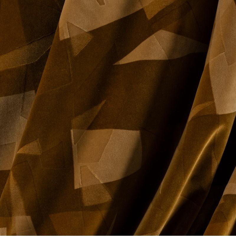 Tissu-velour-géométrique-bronze