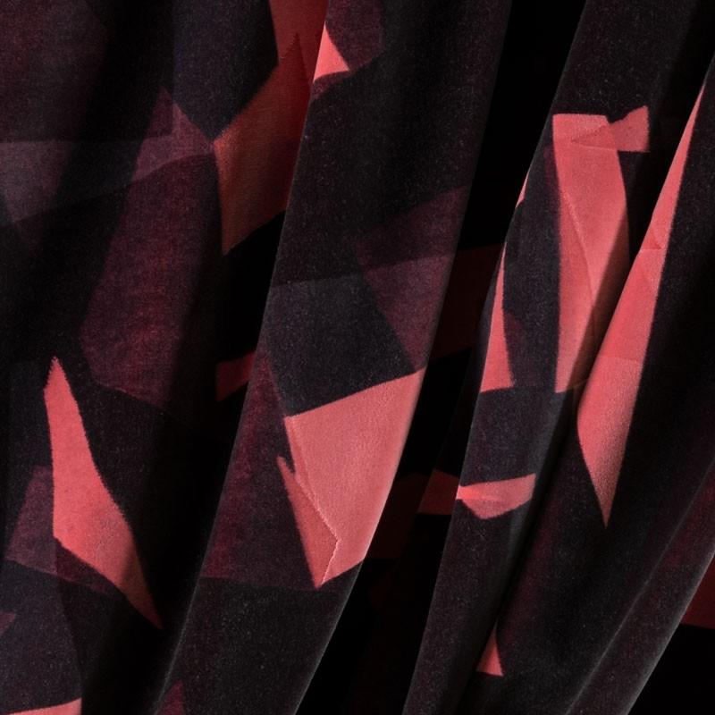 Tissu-velour-géométrique-rose-gris