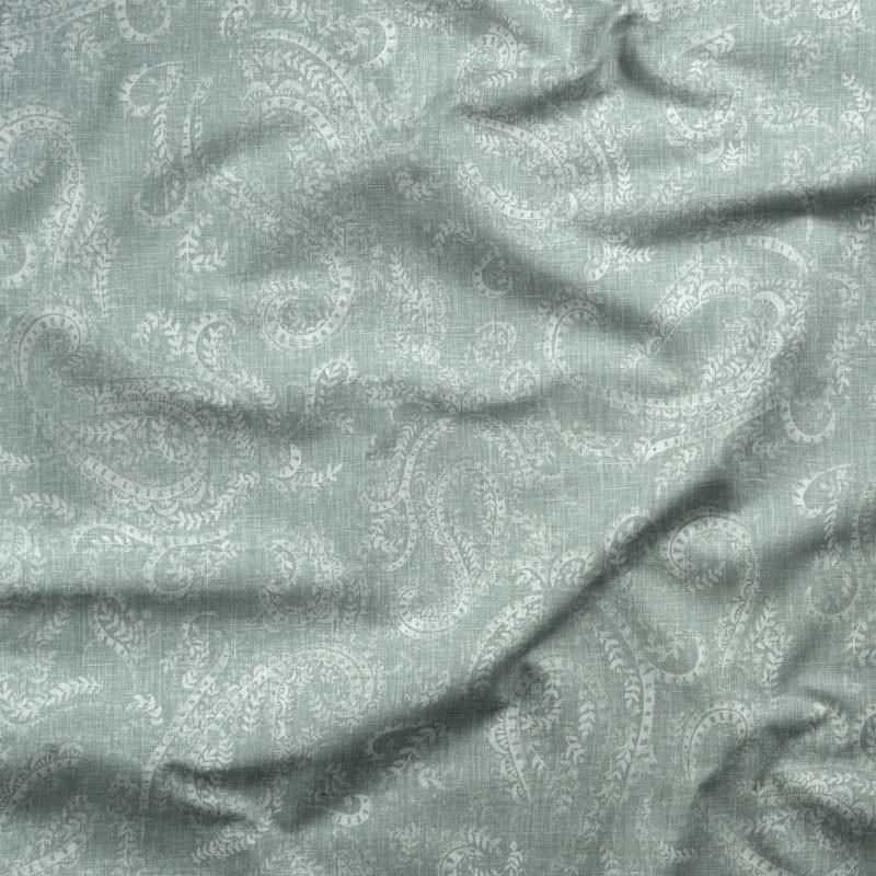 Tissu-lin-coton-motif-cachemire-amande