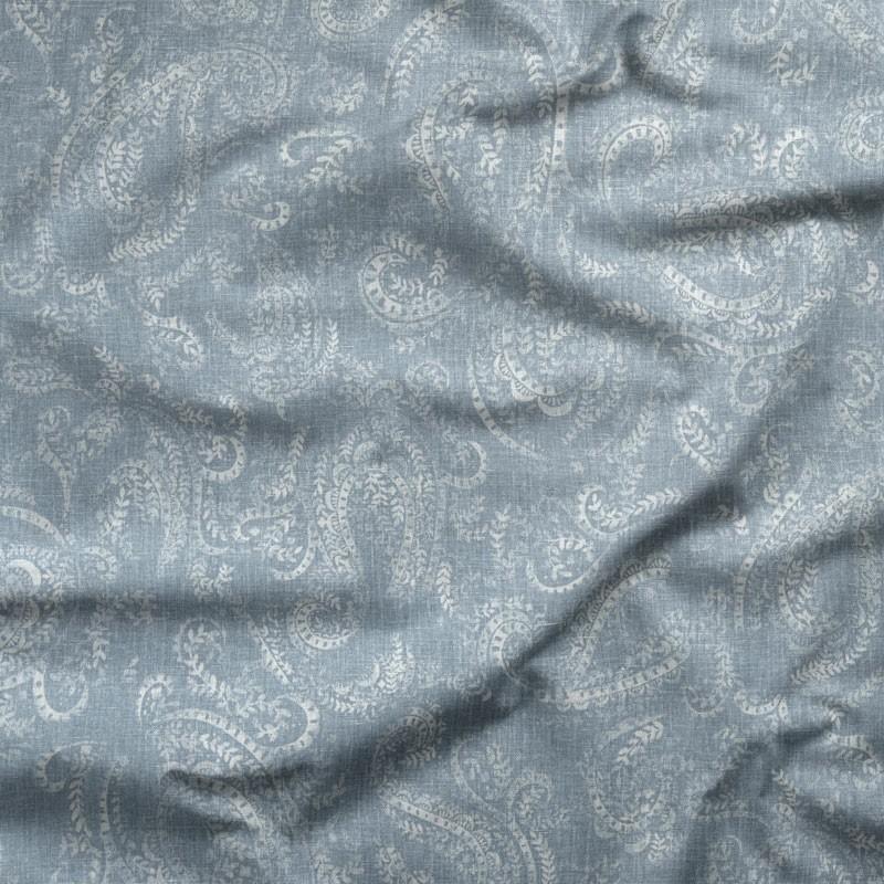 Tissu-lin-coton-motif-cachemire-bleu