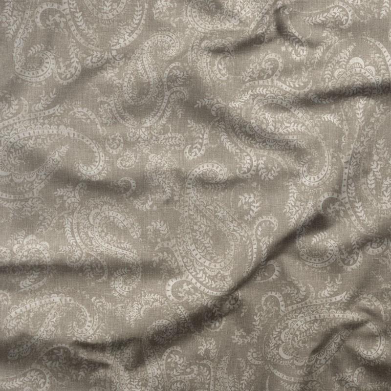 Tissu-lin-coton-motif-cachemire-taupe