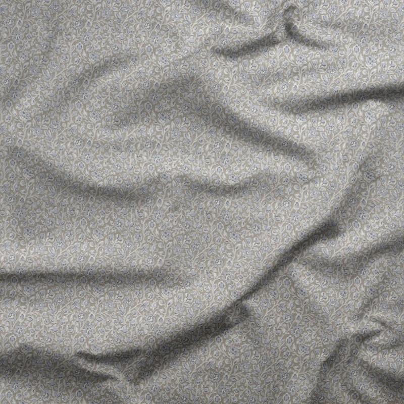 Tissu-coton-fleuri-taupe