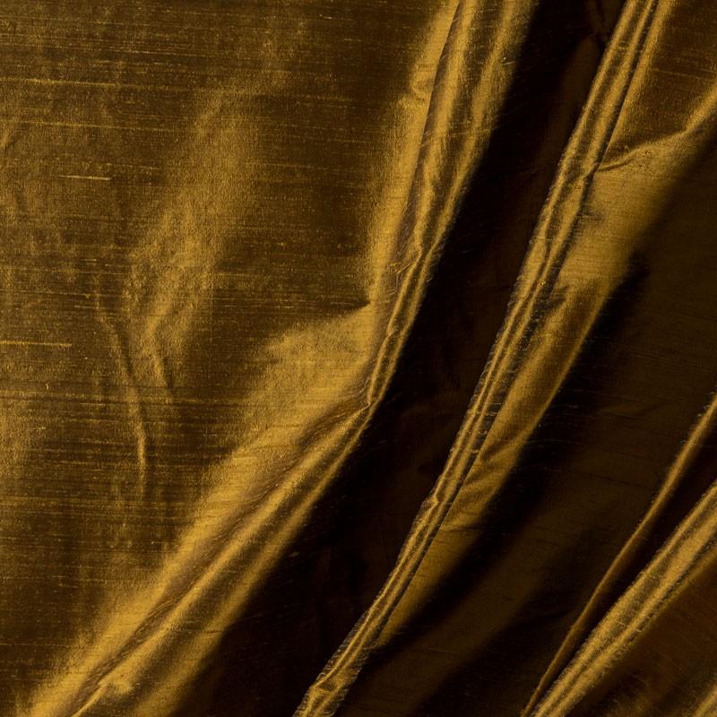 Tissu-soie-sauvage-ocre-foncé