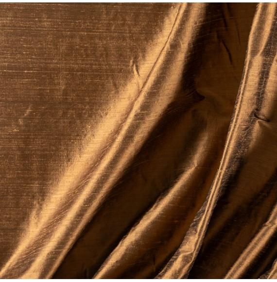 Tissu-soie-sauvage-brun-clair