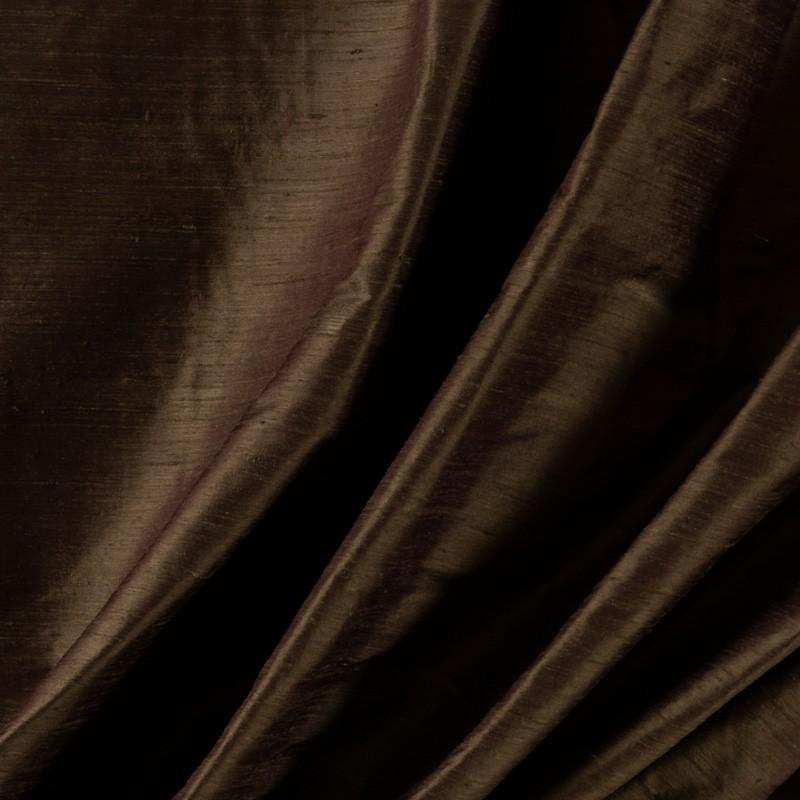 Tissu-soie-sauvage-brun-foncé