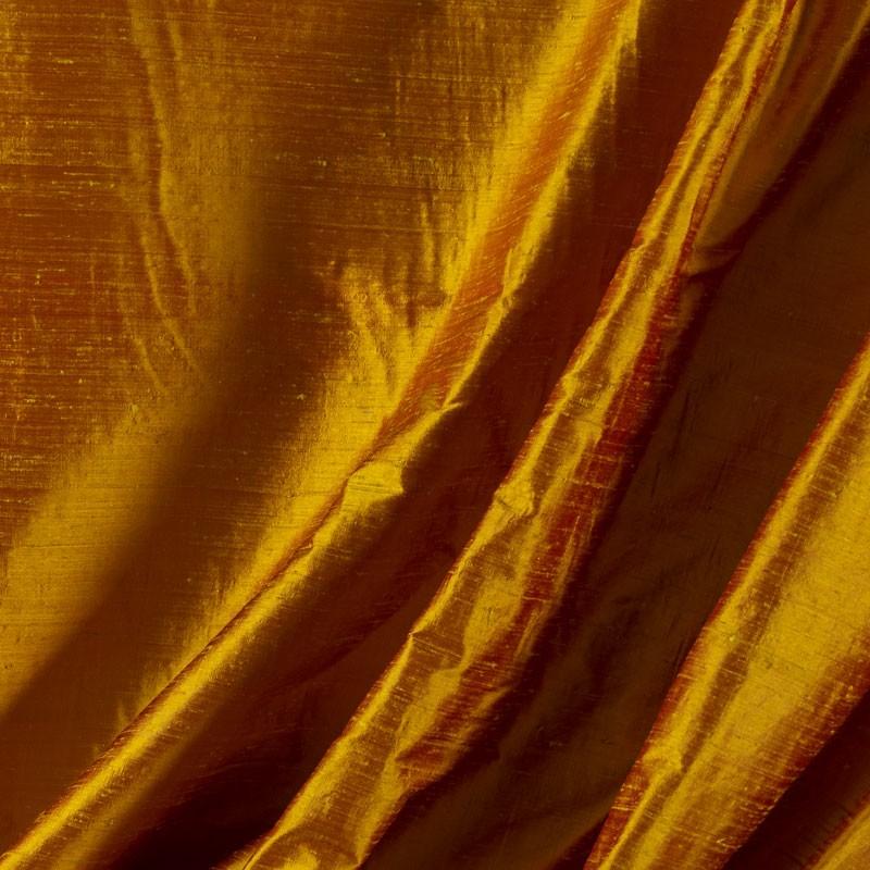 Tissu-soie-sauvage-orange-clair