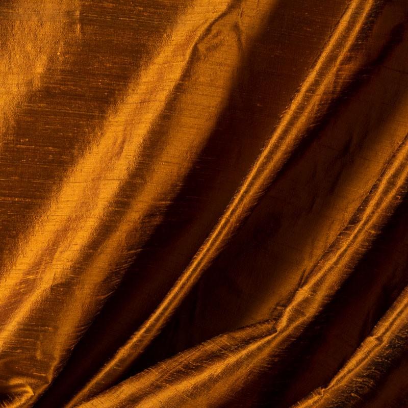 Tissu-soie-sauvage-orange