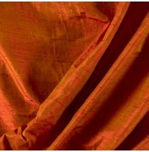 Tissu-soie-sauvage-rouge-orangé