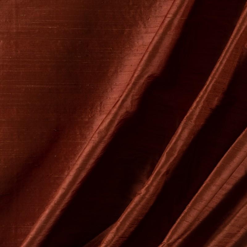 Tissu-soie-sauvage-brique
