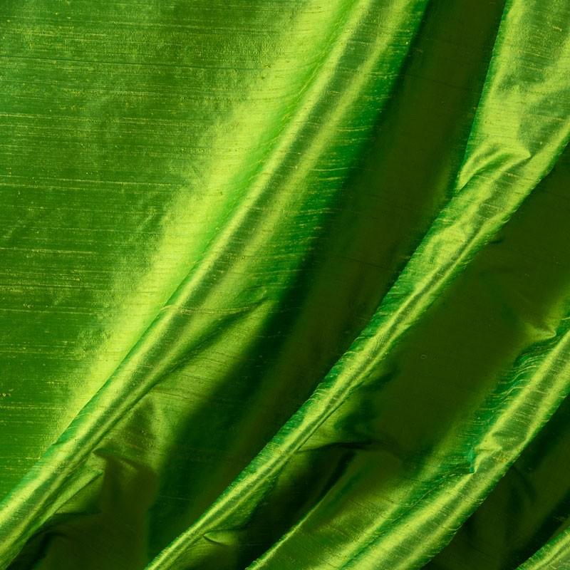 Tissu-soie-sauvage-vert-clair