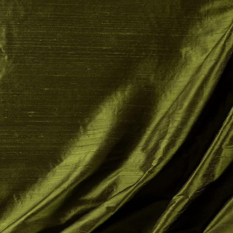 Tissu-soie-sauvage-vert-foncé
