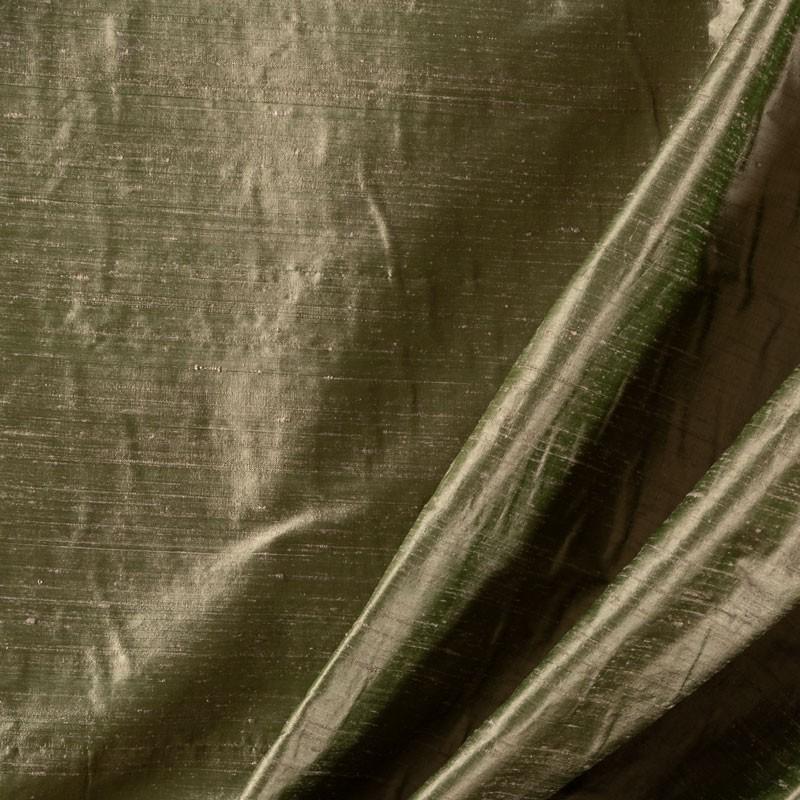 Tissu-soie-sauvage-vert-d'eau