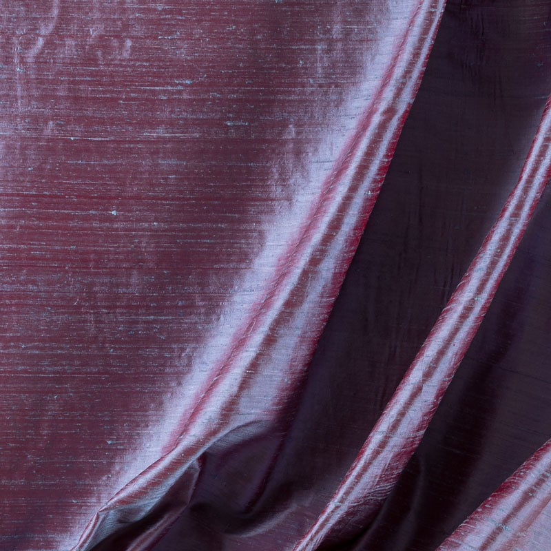 Tissu-soie-sauvage-turquoise-reflet-fuchsia