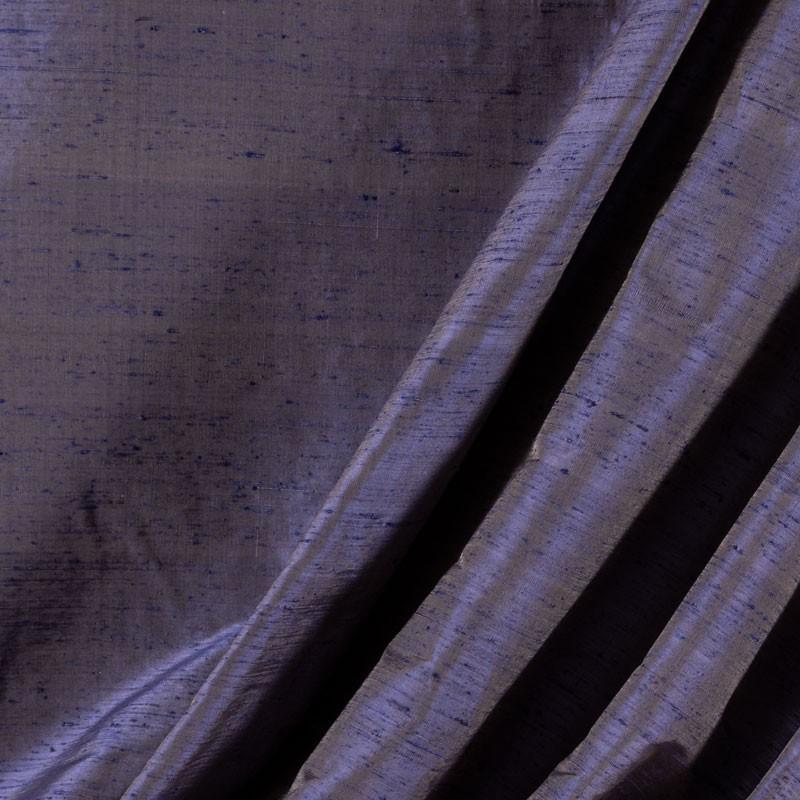 Tissu-soie-sauvage-bleu-reflet-beige