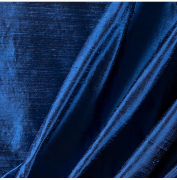Tissu-soie-sauvage-bleu-indigo