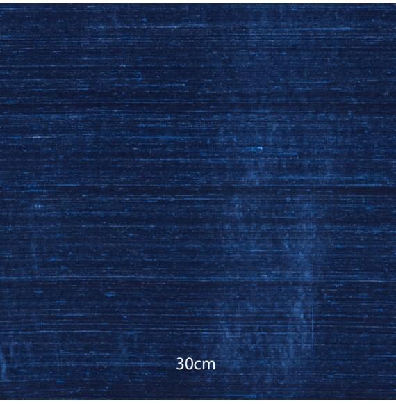 Tissu soie sauvage bleu indigo