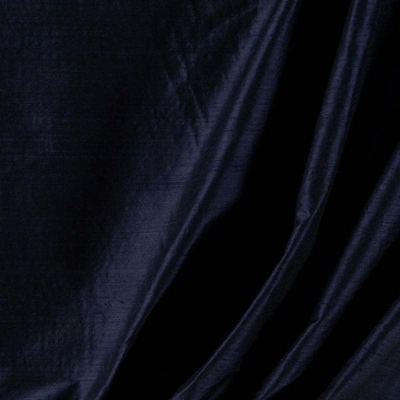 Tissu-soie-sauvage-bleu-marine