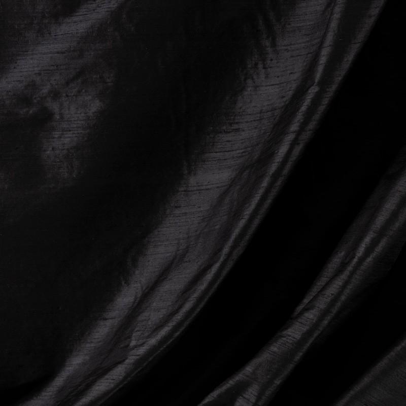 Tissu-soie-sauvage-noir