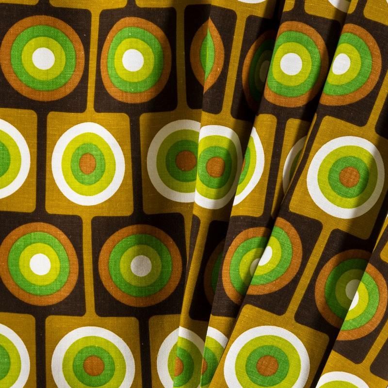 Tissu-coton-vintage-vert