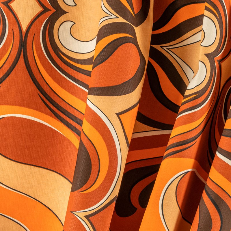 Tissu-viscose-vintage-orange