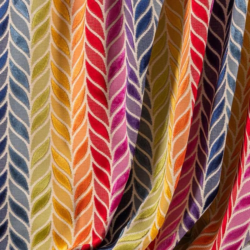 Tissu-velours-feuilles-multicolor