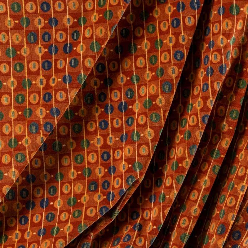 Tissu-velours-brun-géométrique
