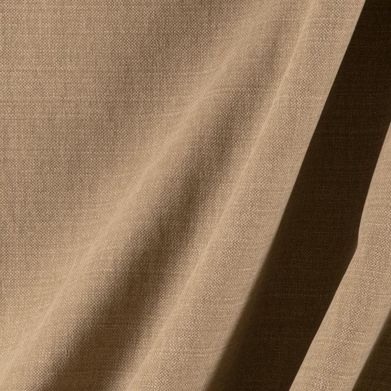 Tissu-lin-coton-gratté-brun-clair