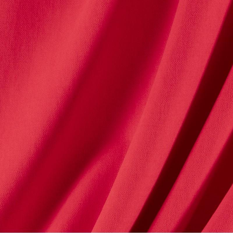 Tissu-lin-coton-gratté-rouge