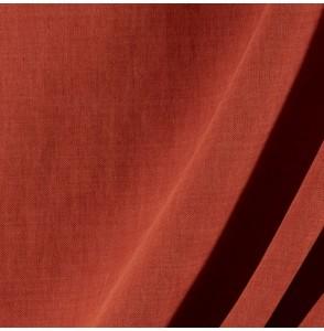 Tissu-lin-coton-gratté-brique