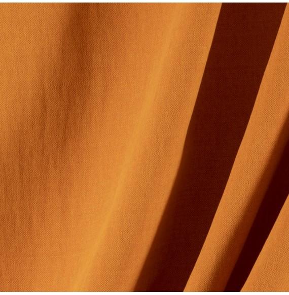 Tissu-lin-coton-gratté-ocre-foncé