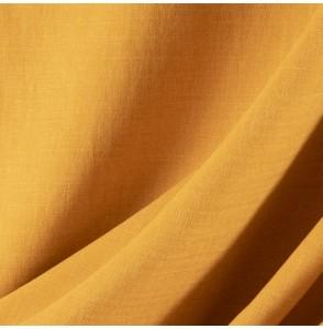 Tissu-lin-coton-gratté-ocre-clair