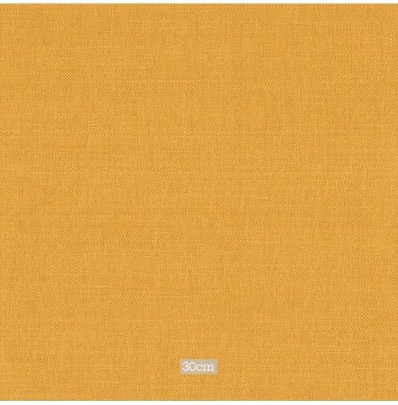 Tissu lin coton gratté ocre clair