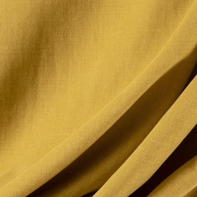 Tissu-lin-coton-gratté-kaki-clair