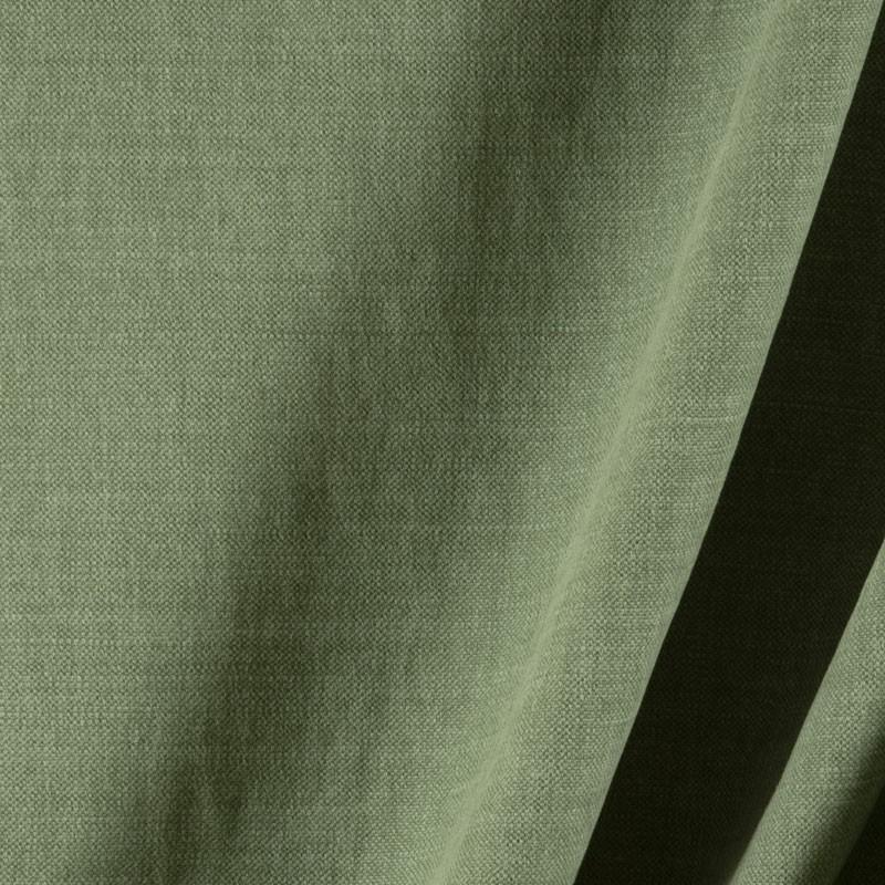 Tissu-lin-coton-gratté-vert