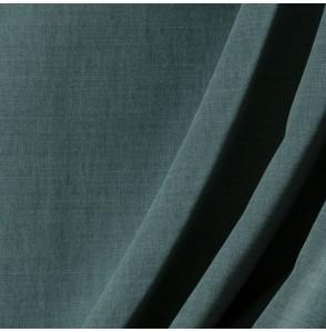 Tissu-lin-coton-gratté-bleu-canard