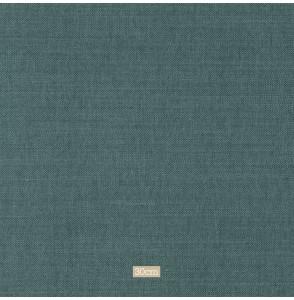 Tissu lin coton gratté bleu canard