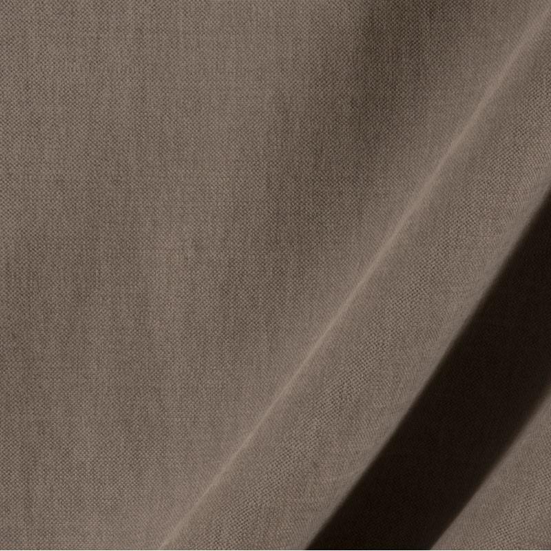 Tissu-lin-coton-gratté-taupe-foncé