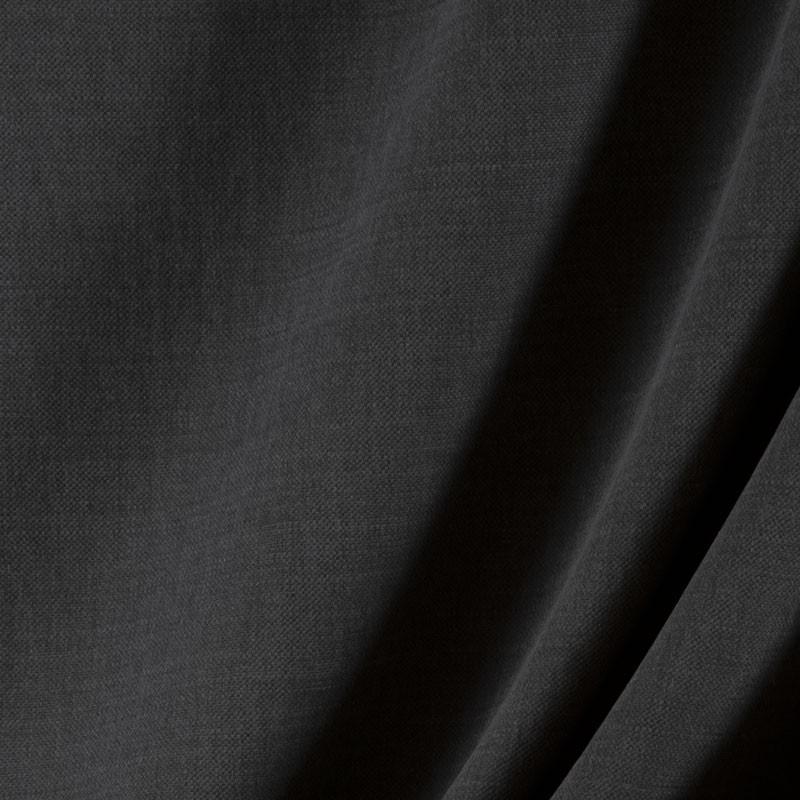 Tissu-lin-coton-gratté-noir
