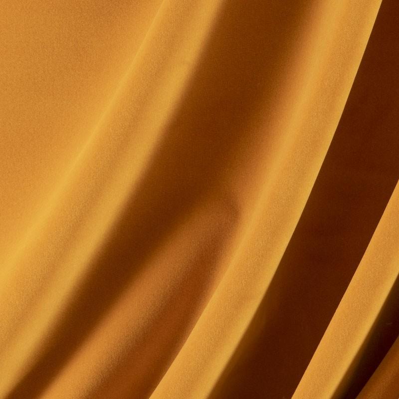 Tissu-velours-ocre