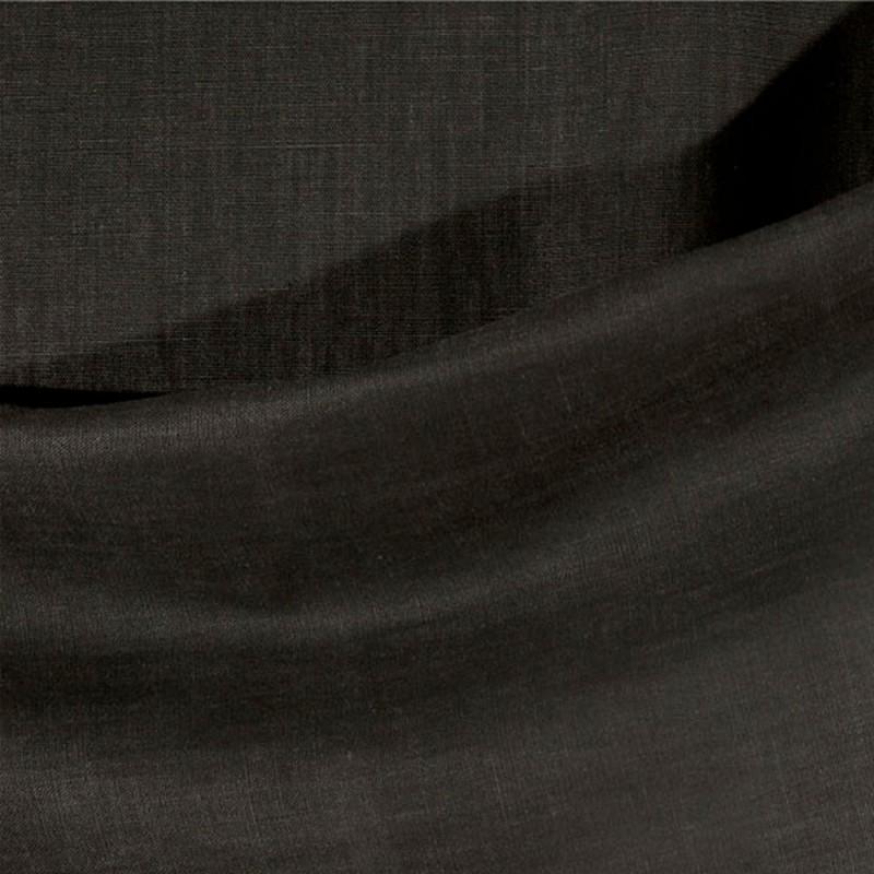 Tissu-lin-lourd-uni-noir