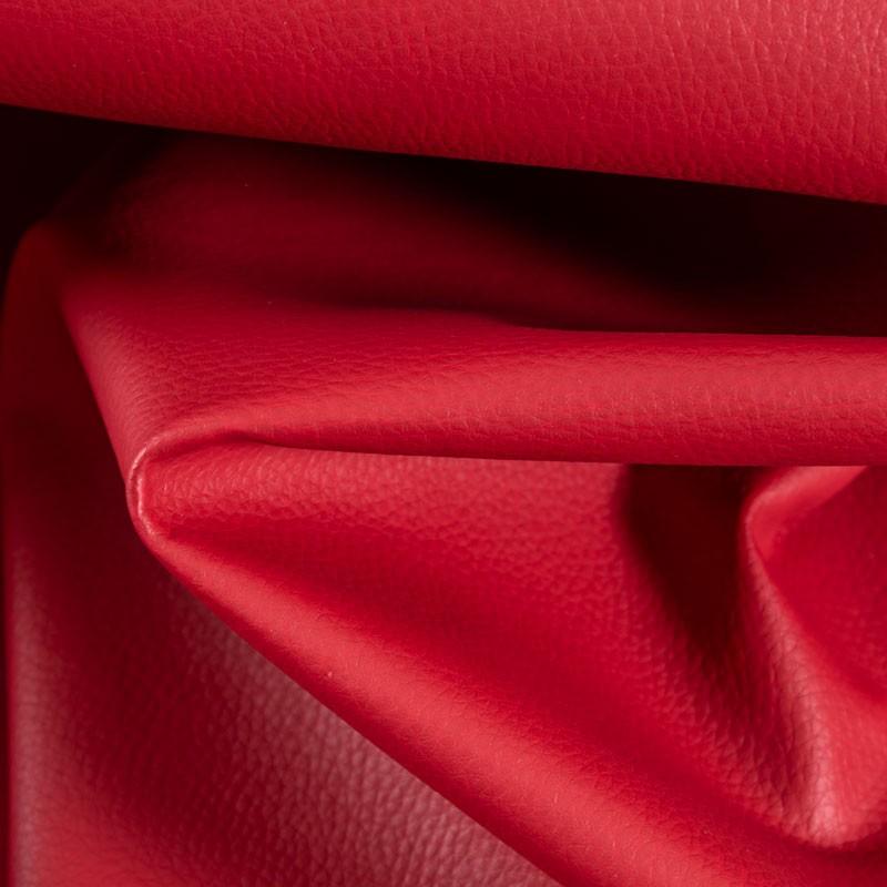 Tissu-simili-cuir-Texas-rouge