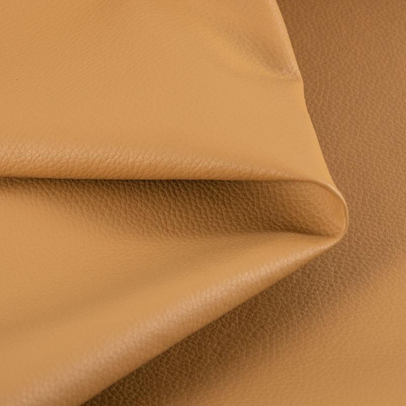 Tissu-simili-cuir-Texas-ocre