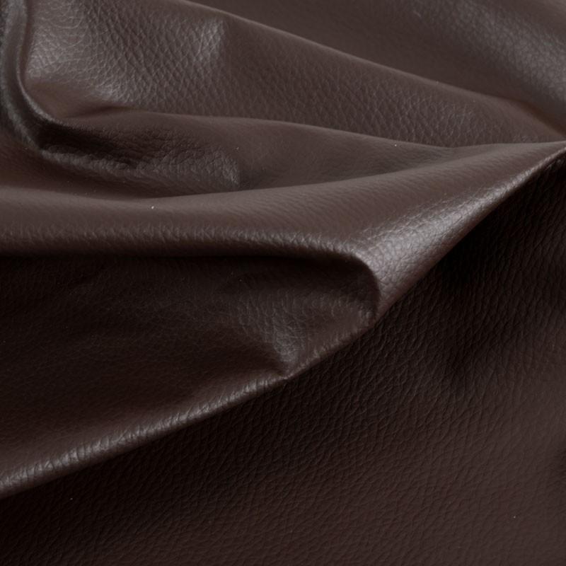 Tissu-simili-cuir-Texas-brun-foncé