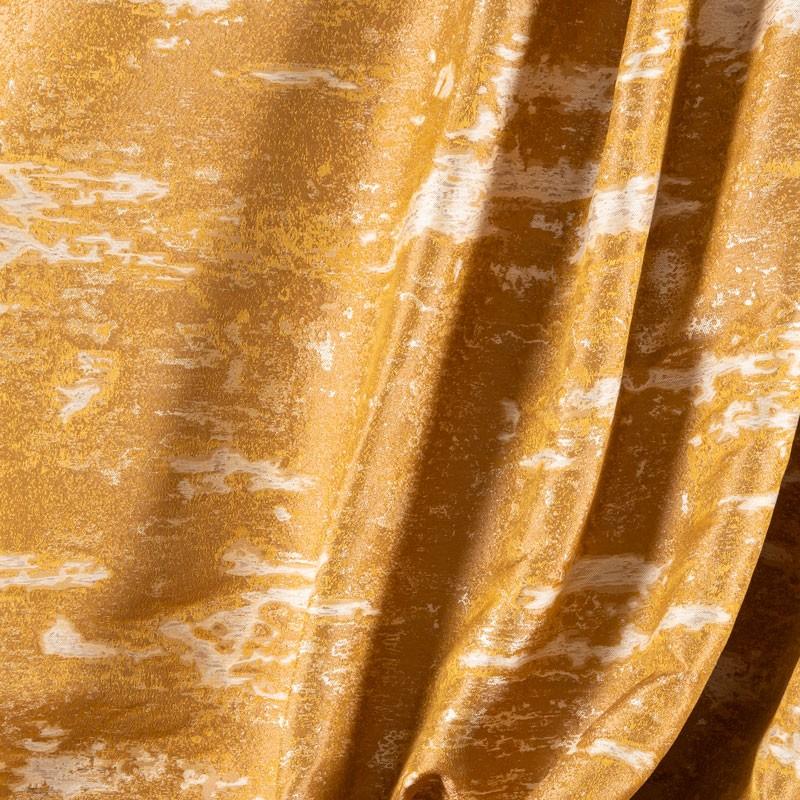 Tissu-jacquard-effet-marbré-or