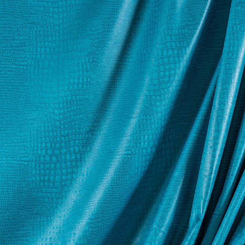 Tissu-suédine-crocodile-bleu-turquoise