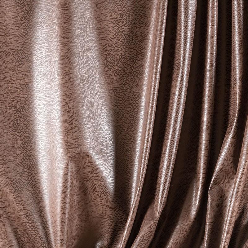 Tissu-suédine-serpent-brun