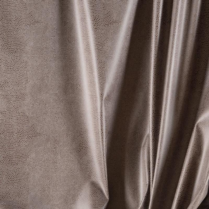Tissu-suédine-serpent-gris-brun