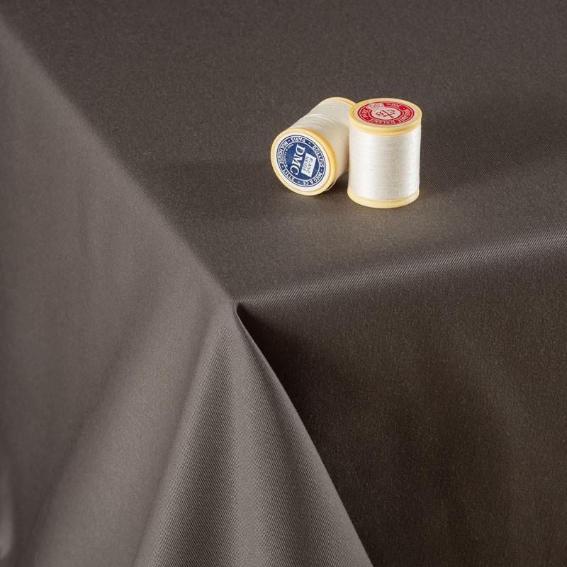 Tissu-300cm-polyester-nappe-taupe-foncé